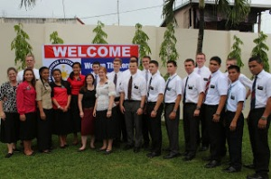 The whole group of missionaries starting at the same time as Hunter in the Cavite Mission.
