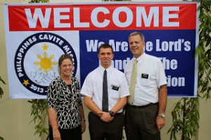 Sister Tye, Elder Burbidge, and President Tye