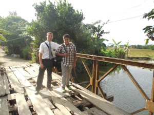 Out doing missionary work with a local resident of Tanza