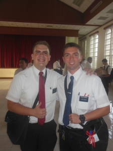 Elder Hunter Burbidge with his Zone Leader, Elder Jordan Anderson from Puyallup!