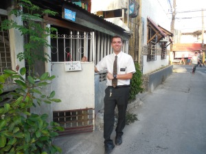 Elder Hunter Burbidge in his new area of Kawit.