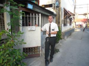Elder Hunter Burbidge in his new area of Kawit.