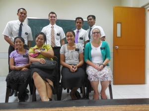 Elder Burbidge and his previous district prior to transfers.