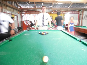 Checking out a game of pool!