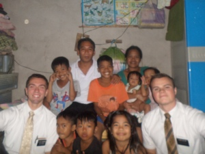 The Lachica Family with me and Elder Collins.